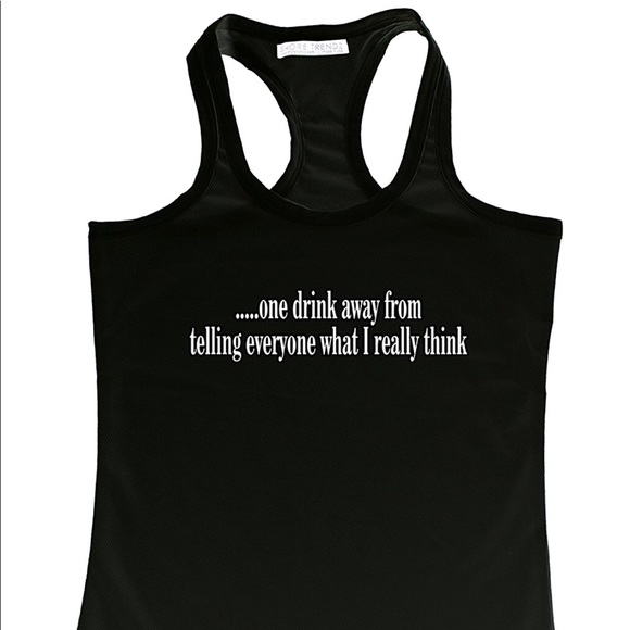 Tops - Funny Drinking Tank Top